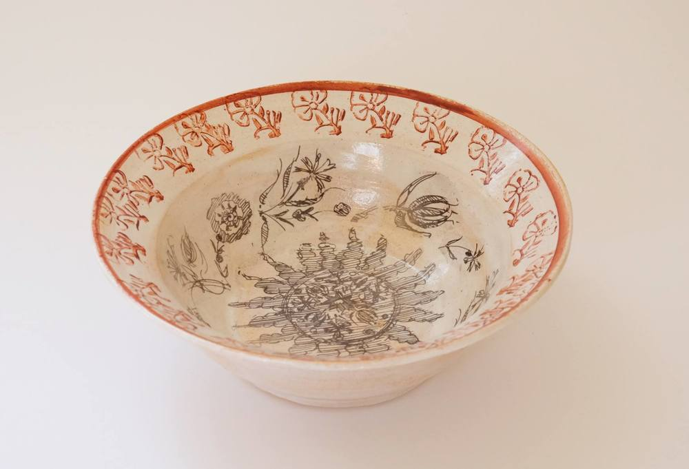 Ellalou O'Meara    Suzani & Cape Sampler Inspired Ceramics    Raw Glazed Stoneware with On-Glaze Prints, Stamps & Painting    R 2 300 each