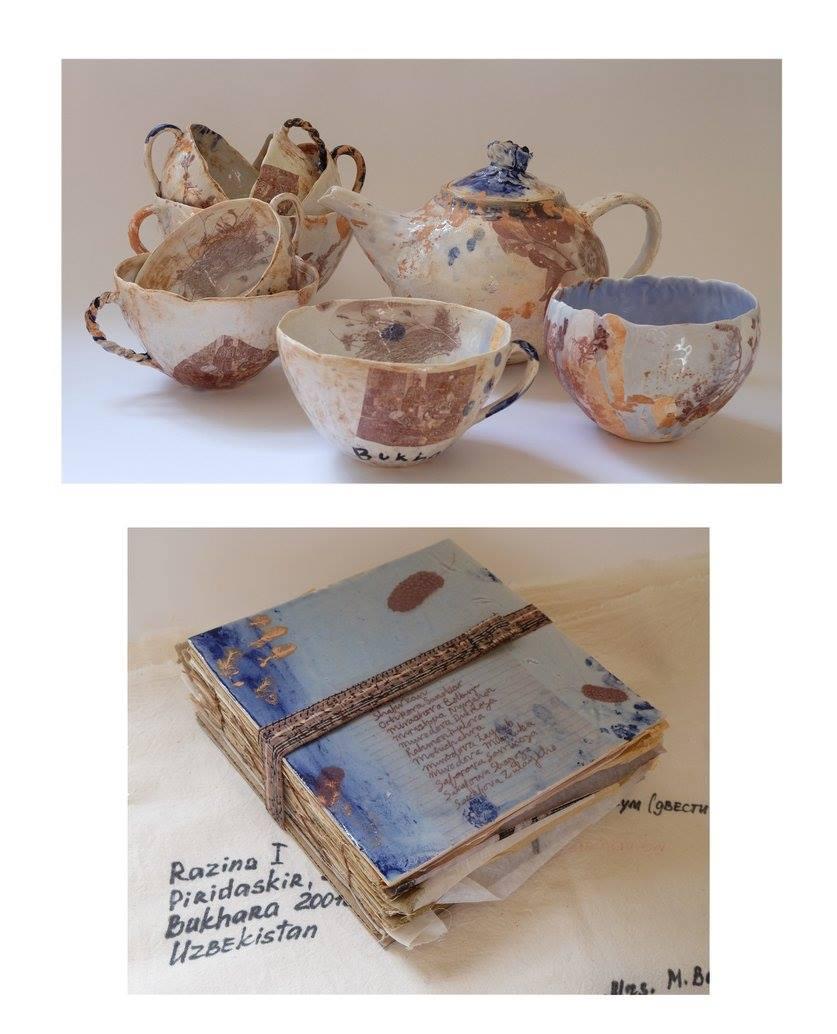 Margy Malan    Suzani Inspired Tea Set & Floral-Press Book    R 20 500