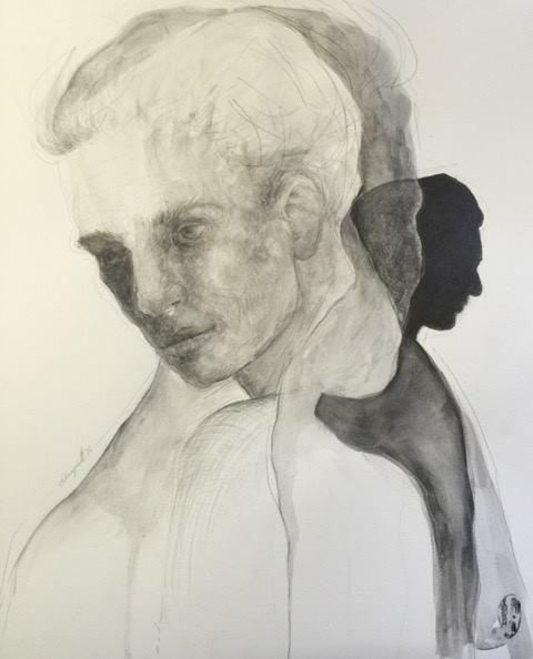Shany van den Berg    Verweef / Entwined    Pencil & Graphite on Paper    R 16 500