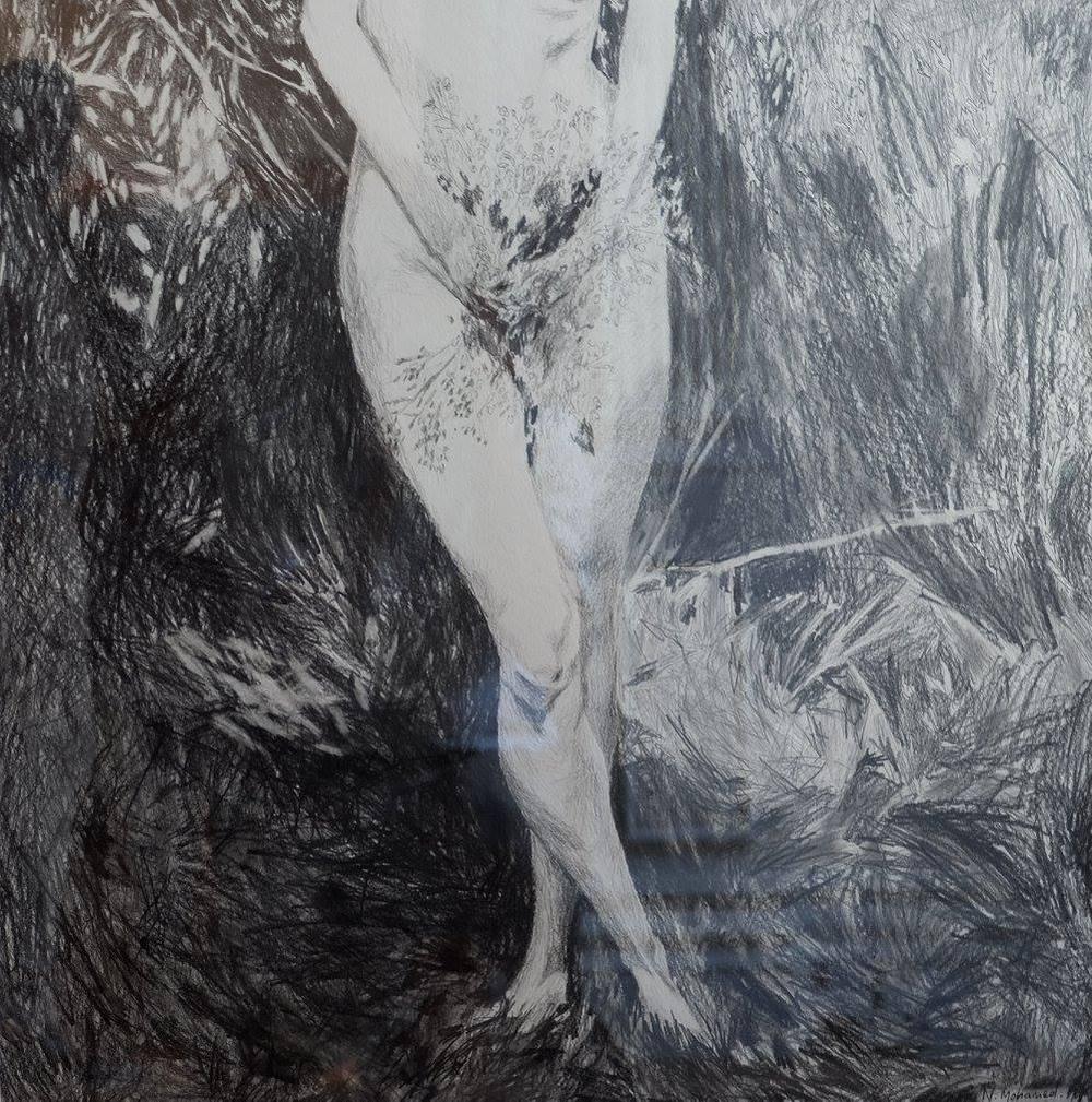 Nabeeha Mohamed    Boschenheuwel (2016)    Pencil on Paper    63 x 63 cm  R 3 400