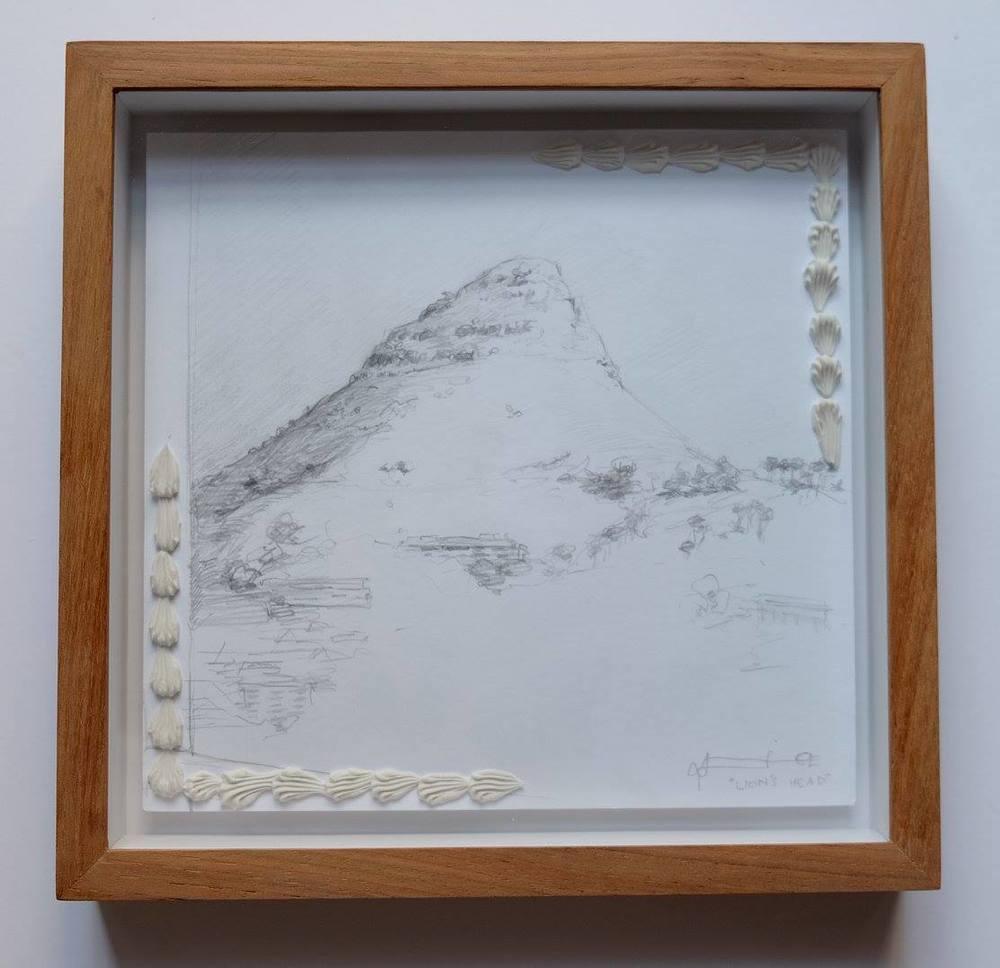 Alice Toich    Lion's Head    Pencil on Paper    17 x 17 cm  R 1 250