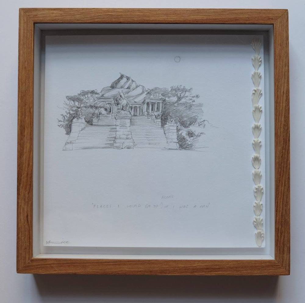 Alice Toich    Ideas for Paintings: Rhodes Mem    Pencil on Paper    17 x 17 cm  R 1 250