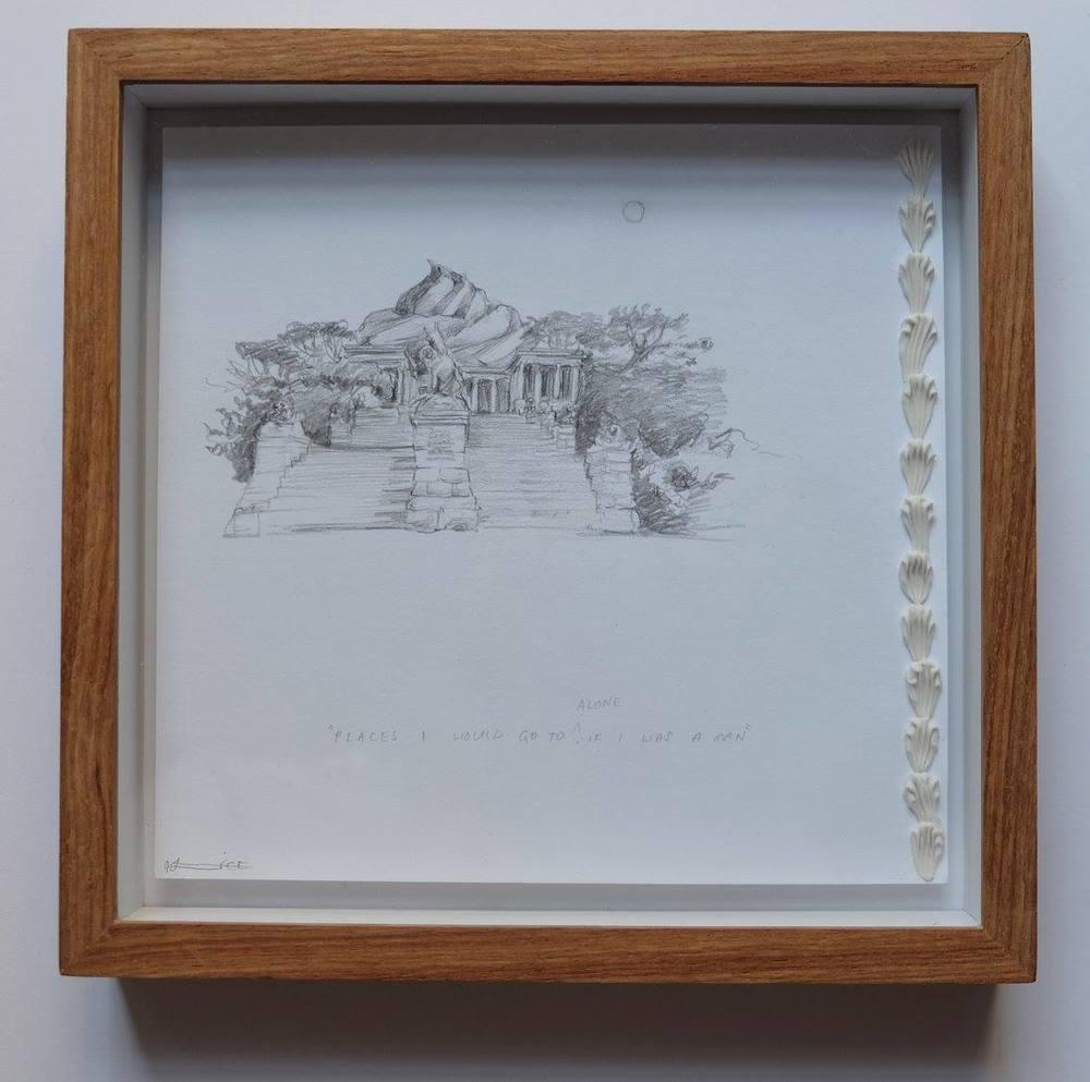 Alice Toich    Ideas for Paintings: Rhodes Mem    Pencil on Paper    17 x 17 cm  R 1 250