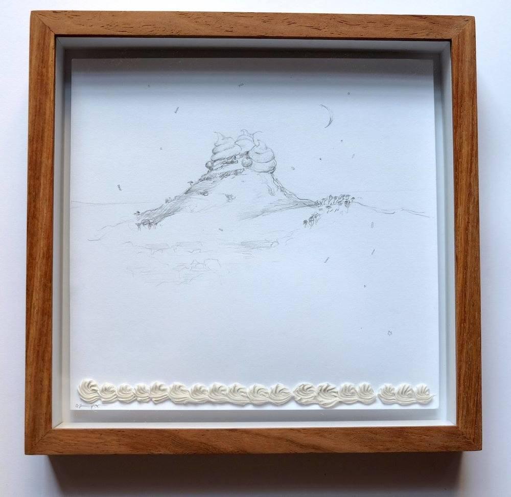 Alice Toich    Lion's Head for Dessert    Pencil on Paper    17 x 17 cm  R 1 250