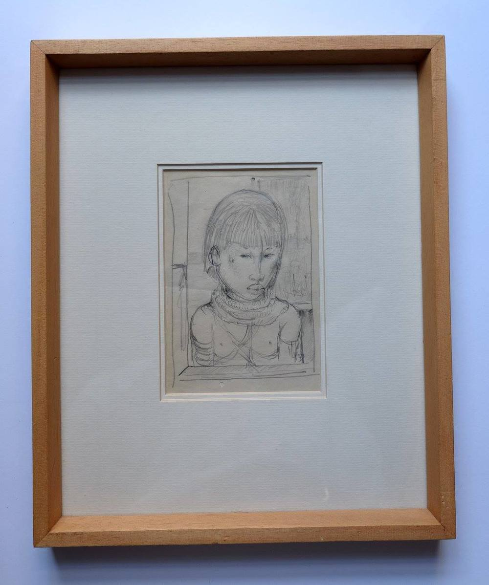 Alexis Preller (1911-1975)    Study of a Woman    Pencil on Paper   33 X 27.5 cm  R 4 800    SOLD