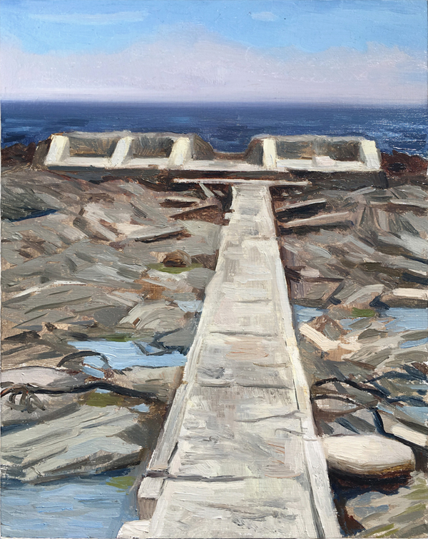 "Oliver Scarlin   ""Graaf's Pool, Sea Point""  Oil on Panel  25 x 20cm  R5400"