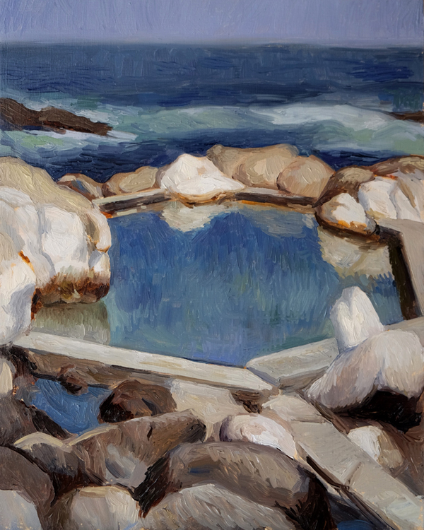 "Oliver Scarlin   ""Saunder's Rock Pool""  Oil on Panel  30 x 25cm   R8200"
