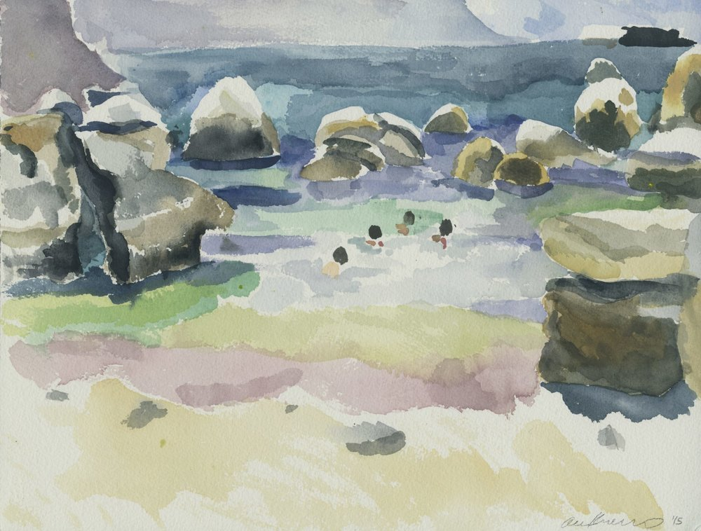 "Alexandra Karamallis ""Boulders"" Watercolour on Paper 30,5 x 40,5cm R8 400"