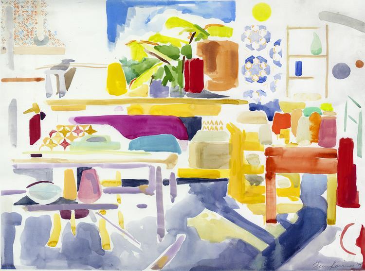"Alexandra Karamallis ""Daydream"" Watercolour on Paper 40,5 x 53,5cm R8 600"