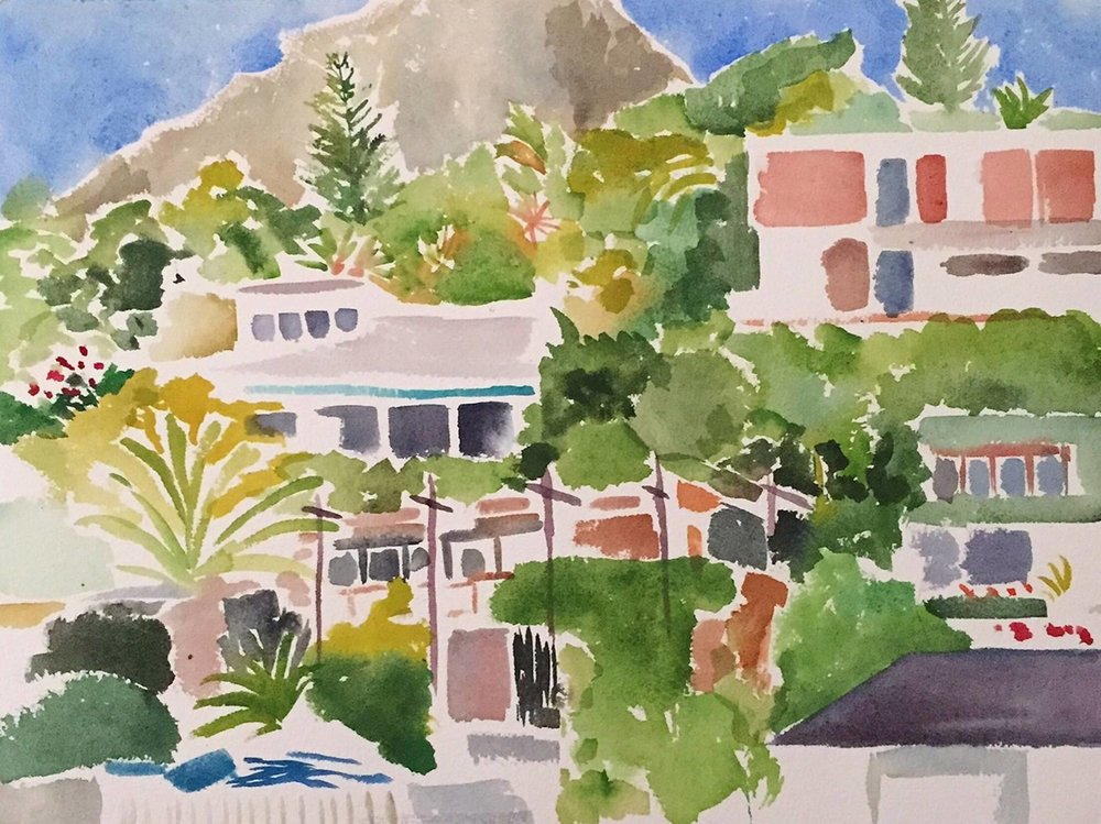 "Alexandra Karamallis ""Clifton"" Watercolour on Paper 30,5 x 40,5cm R8 400"