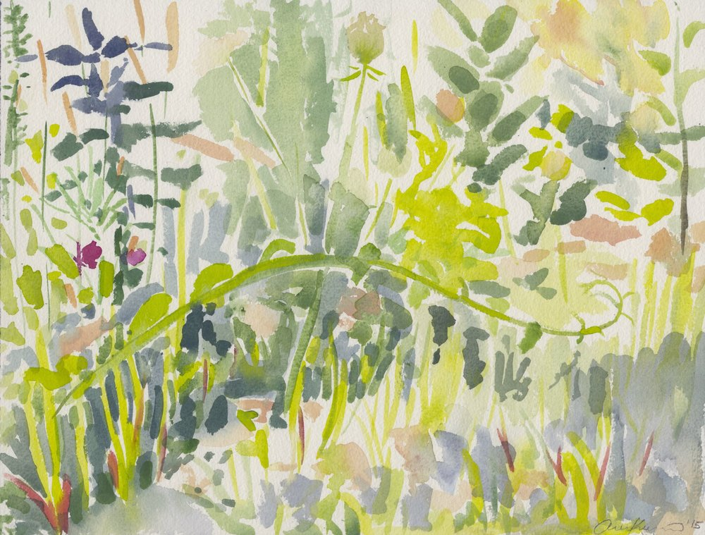 "Alexandra Karamallis ""Weeds"" Watercolour on Paper 31 x 41cm  R6 500"