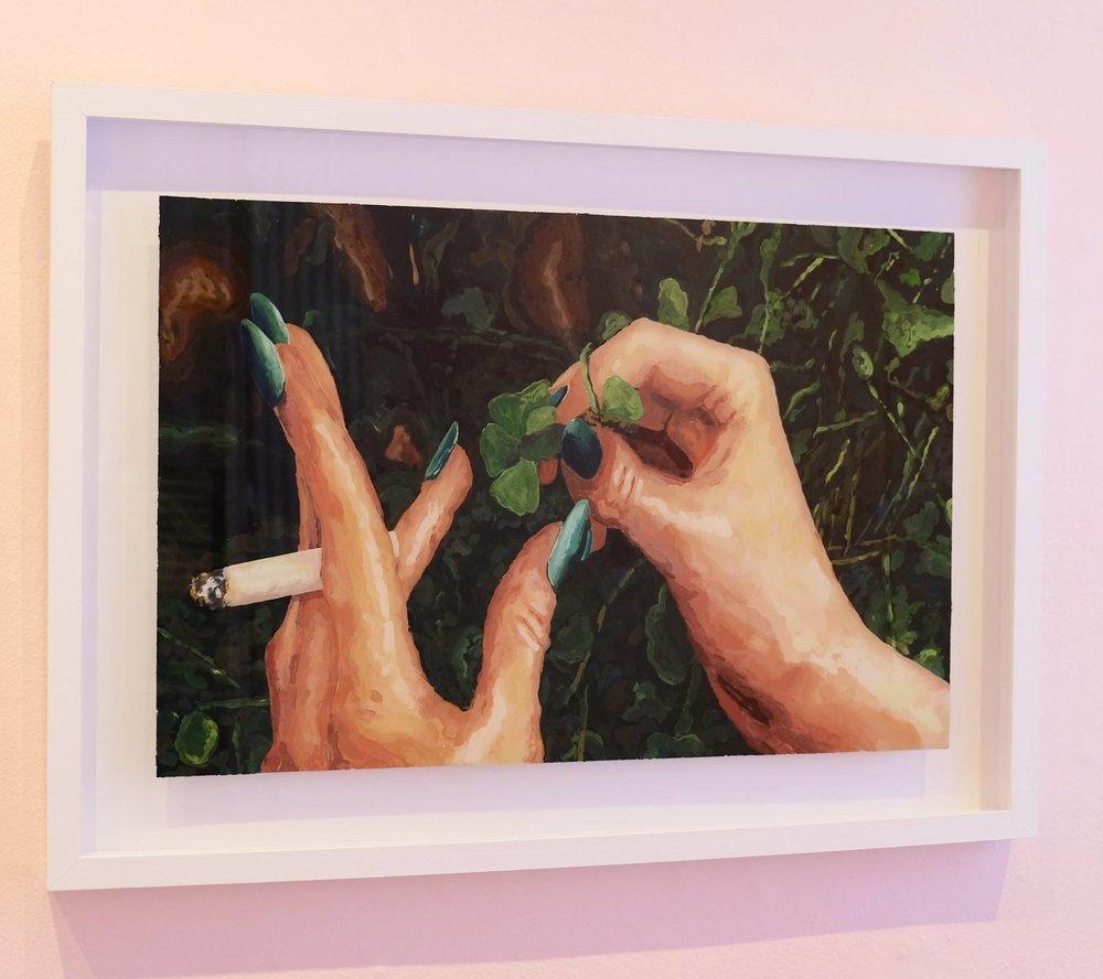 "Ludwich Olivier   ""Doppio Alegria"" Mixed Media on Glass 49 x 69cm  R15 000"