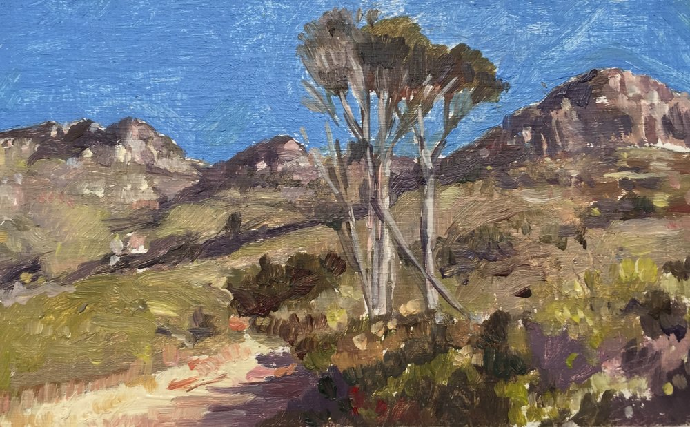 Andre Serfontein,  'Deer Park' , Oil on Panel, 8 x 12,5cm