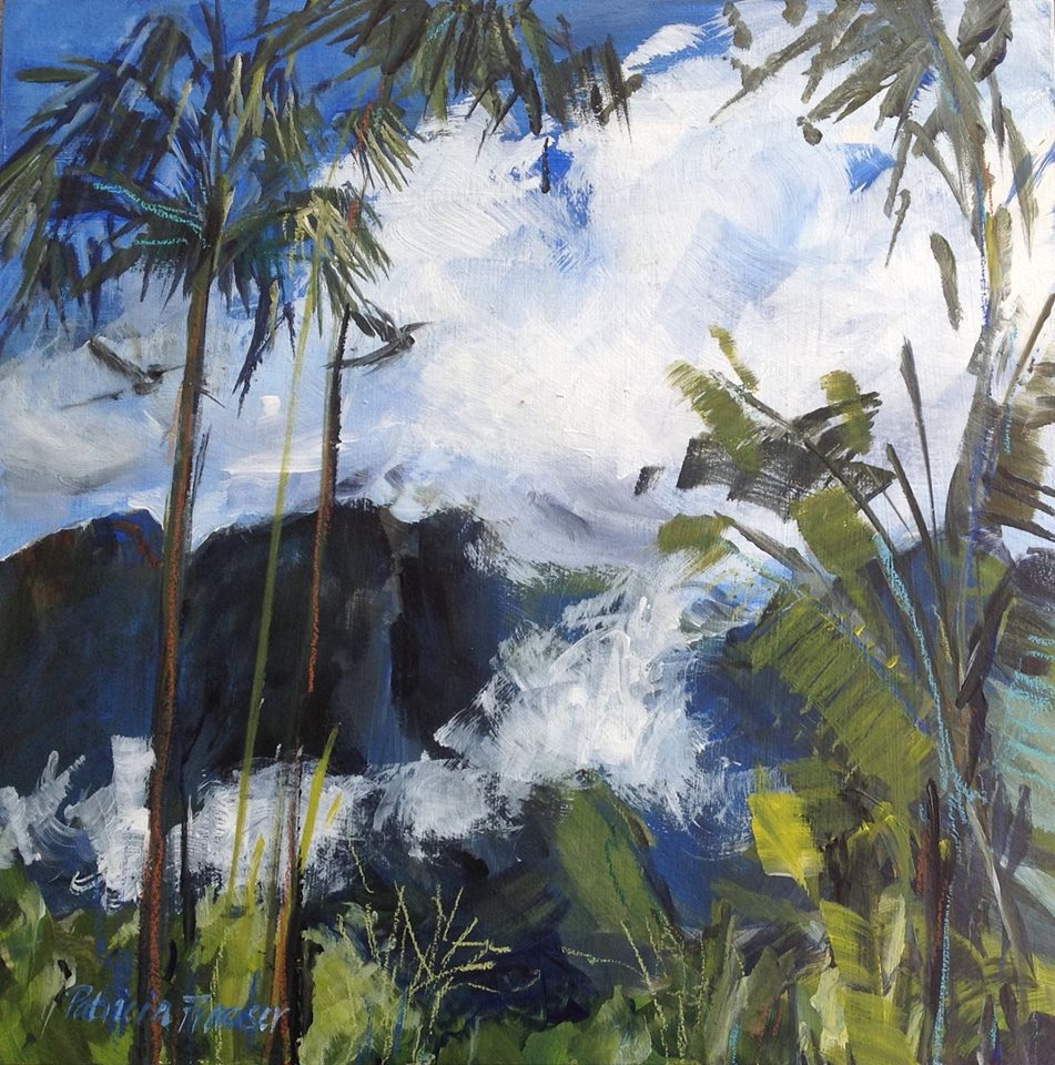 Patricia Fraser 'Noon' Acrylic on Board  30 x 30cm R3200