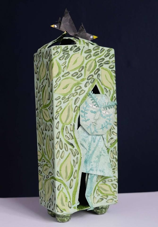 "Carol Mangiagalli & Niki Daly   ""The Green Man's House""  Mixed Media: Papier-Mâché & Paper 28cm high R1 645"