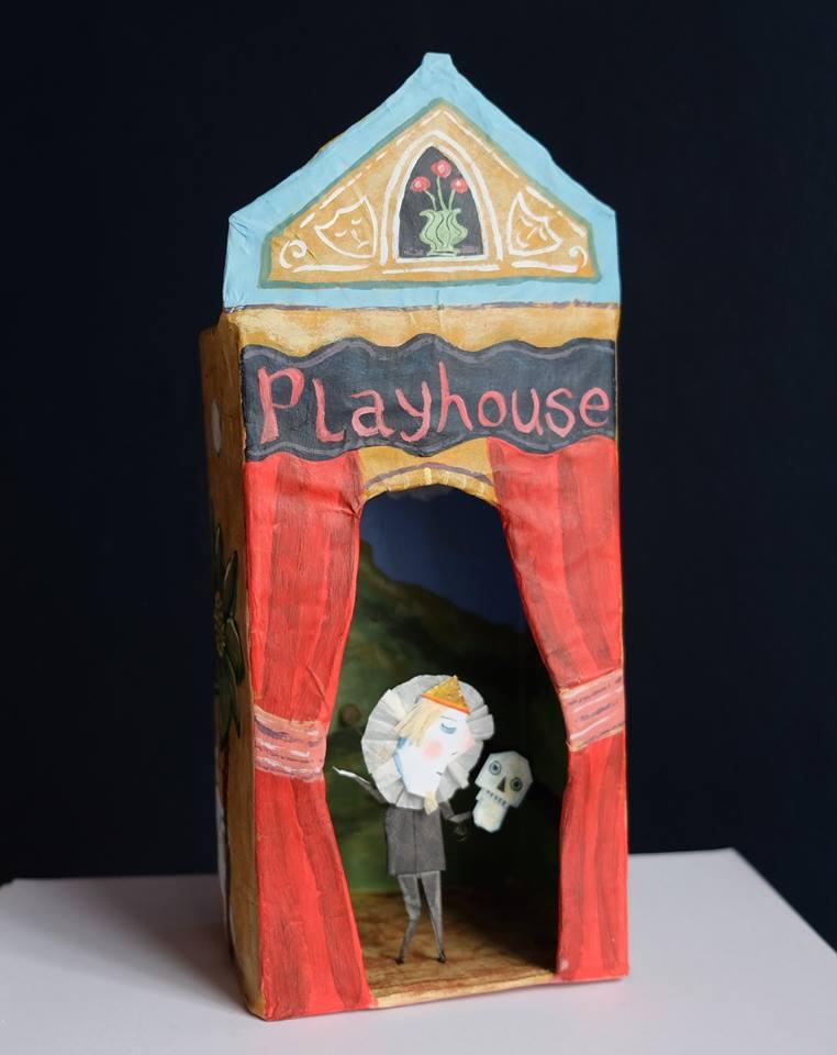 "Carol Mangiagalli & Niki Daly   ""The Playhouse""  Mixed Media: Papier-Mâché & Paper 28,3cm high R1 750"