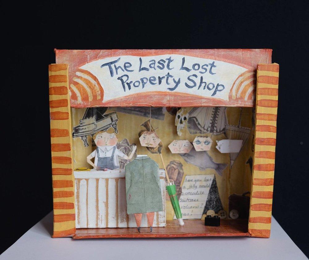"Carol Mangiagalli & Niki Daly   ""The Last Lost Property Shop""  Mixed Media: Papier-Mâché & Paper 20cm high R1900"