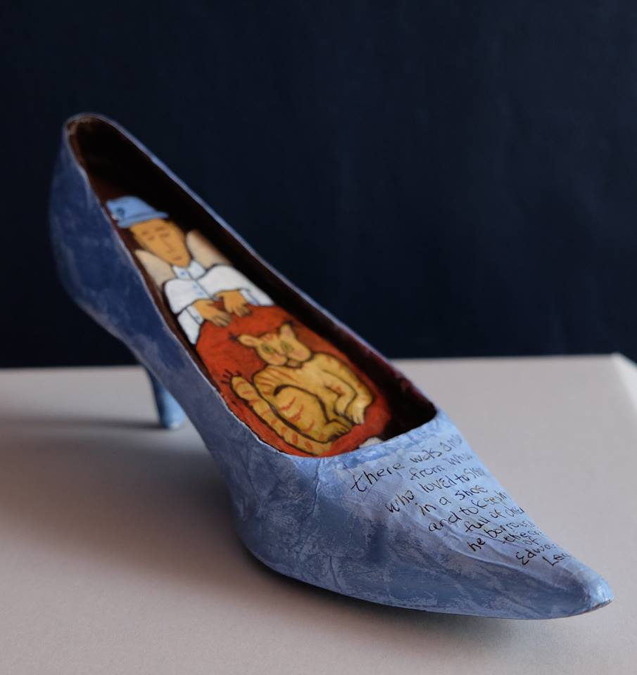 """Carol Mangiagalli    """"Man from Whoo""""  Painted Papier-Mâché and a Shoe 13,2cm high R850"""
