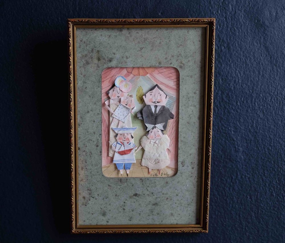 "Niki Daly   ""The Bon-Bon Family""  Mixed Media: Folder Paper & Ink 25,5 x 16,5cm R1150"