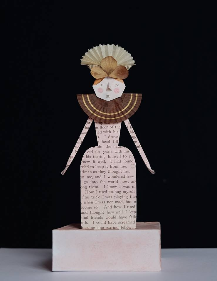 """Niki Daly   """"The Parson's Daughter""""  Mixed Media: Folded Paper & Ink 19,8cm high R1 050"""