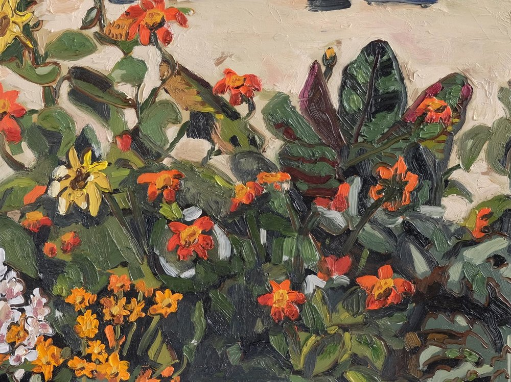 "Erin Chaplin    ""Garden""  Oil on Board  30 x 40cm  R4200"
