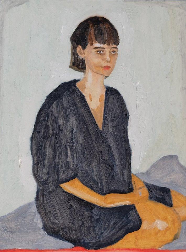 "Erin Chaplin   ""The Knowing""  Oil on Board  40 x 30cm  R3600"
