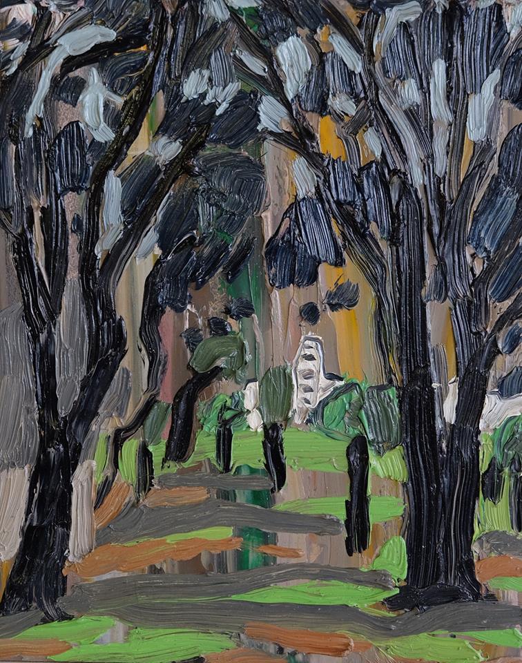 "Erin Chaplin    ""The Path""  Oil on Board  25 x 20cm  R2200"