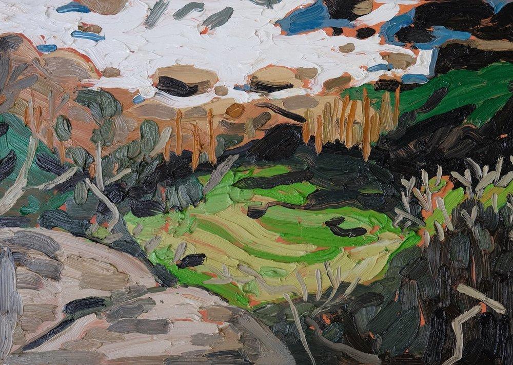 """Erin Chaplin    """"Foam""""  Oil on Board  42 x 60cm  R6500"""