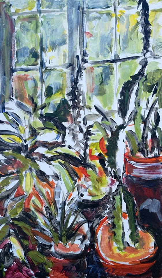 Patricia Fraser   Athol's Table  Acrylic on Board 30 x 18cm  R4000