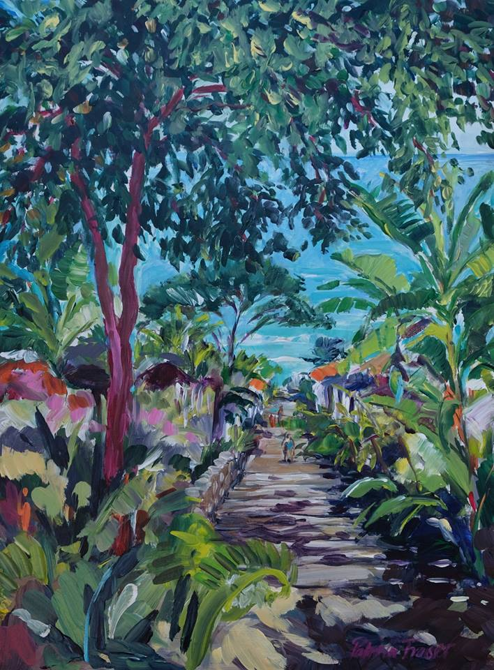 Patricia Fraser   Down to the Beach  Acrylic on Board 60 x 44cm  R8 800