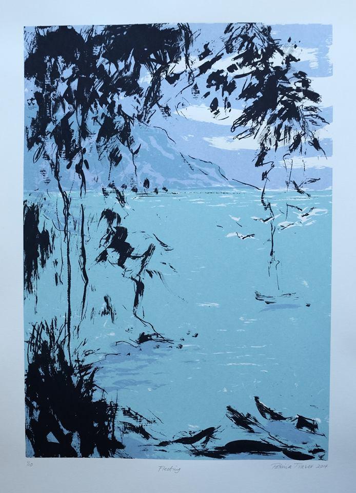 Patricia Fraser   Fleeting  Screenprint 49 x 35cm  R2800 (framed) R1920 (unframed
