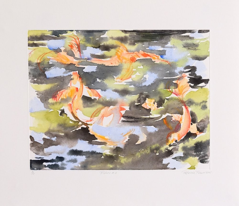 Patricia Fraser   Fishes #2  Watercolour Monotype 33,5 x 39cm  R4 800