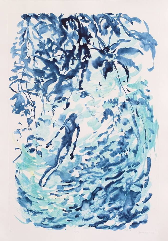 Patricia Fraser   Rising  Watercolour Monotype 82 x 53,5cm  R9 300