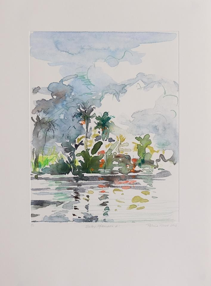 Patricia Fraser   Sultry Afternoon #1  Watercolour Monotype 43 x 32,5cm  R4 400