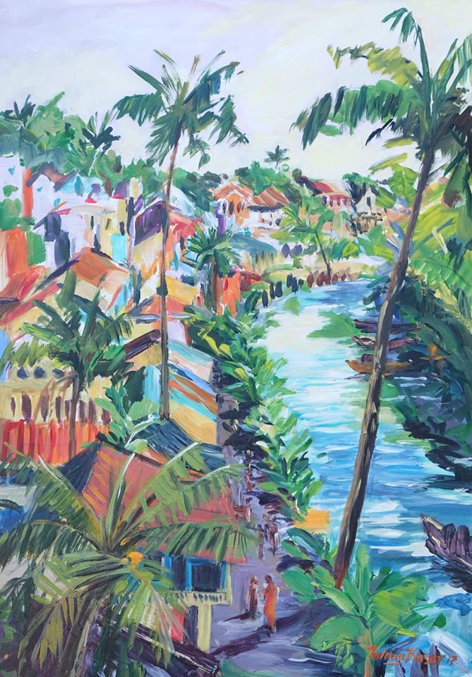 Patricia Fraser   Yogyakarta Inspiration  Acrylic on Board 60 x 44cm  R8 800