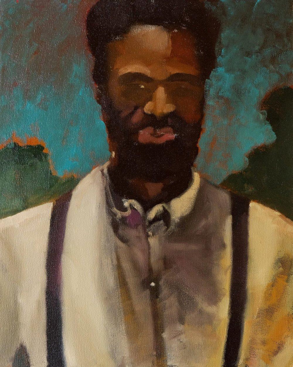 "Lara Feldman ""Man"" Oil on Canvas 50 x 40cm R12 000"