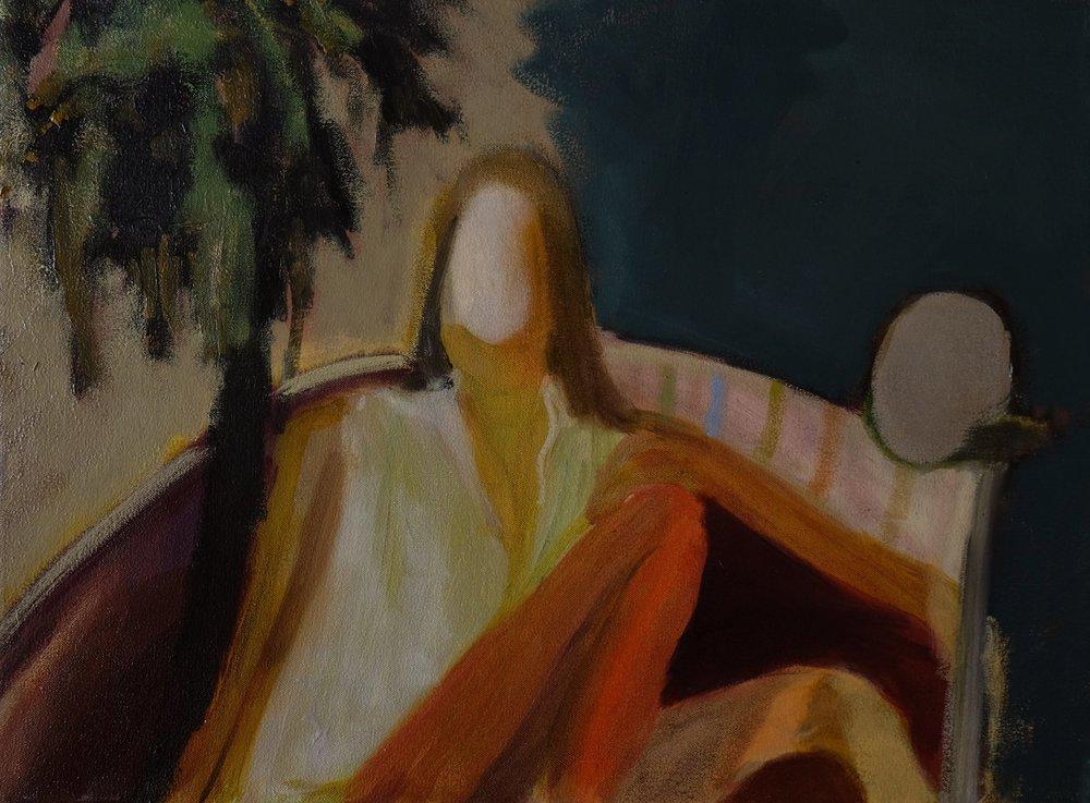 """Lara Feldman """"Seated Figure"""" Oil on Canvas 40 x 54cm R9 200"""