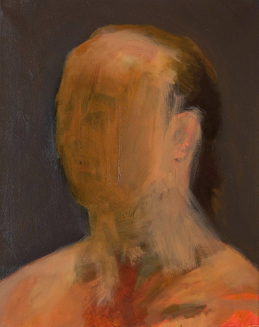 "Lara Feldman ""Man With Grey"" Oil on Canvas 50,5 x 40,5cm R7 200"