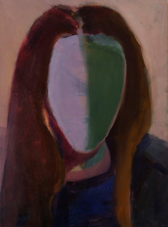 "Lara Feldman ""Neon Girl"" Oil on Canvas 54 x 40cm R8 800"