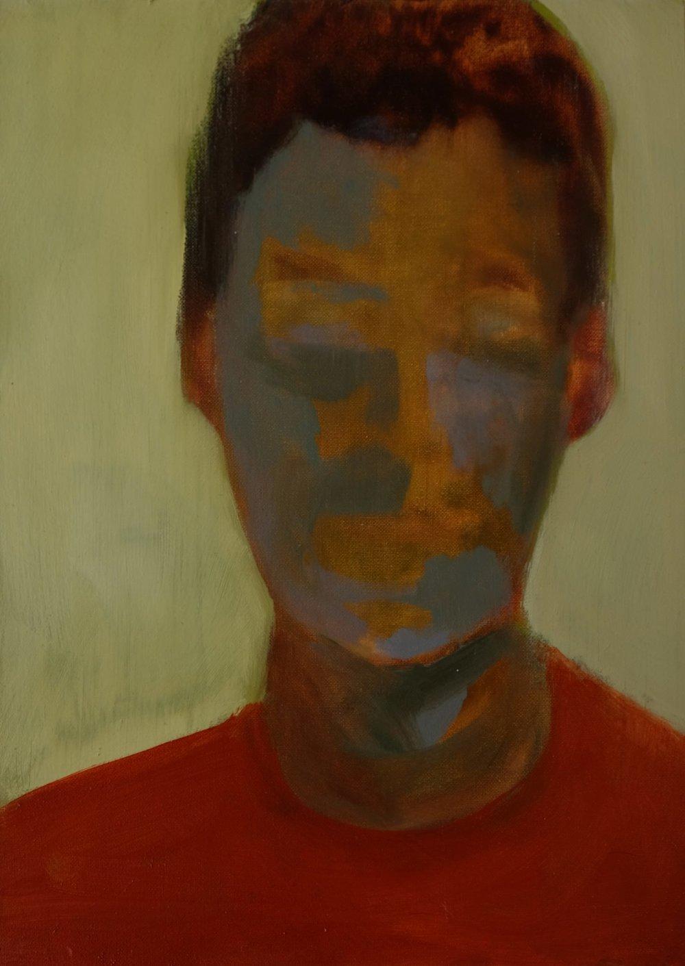 "Lara Feldman ""Boy"" Oil on Panel 35 x 25cm R7 200"