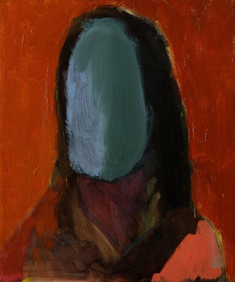 """Lara Feldman """"Either/Or"""" Oil on Canvas 30 x 25cm R6 200"""