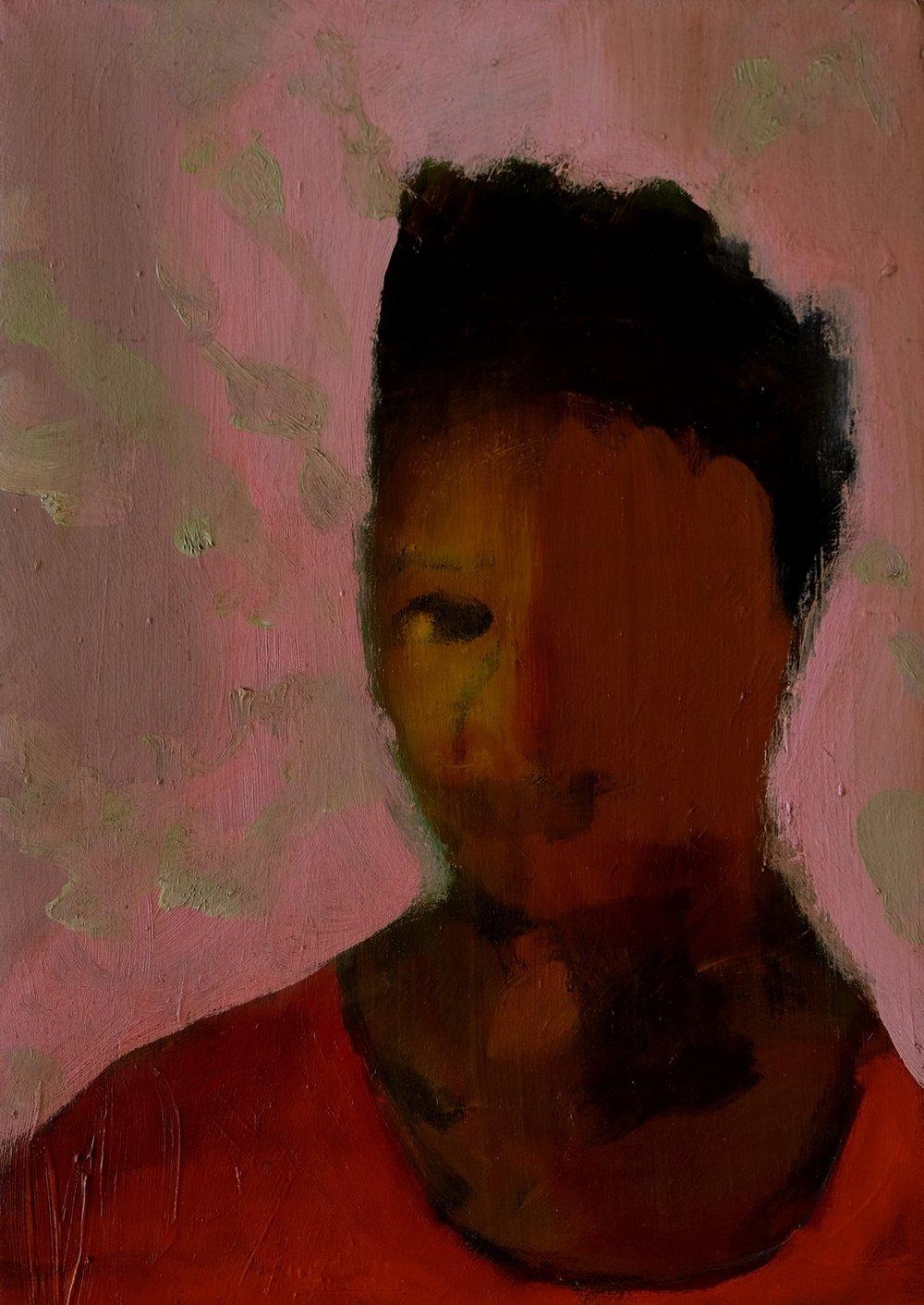 "Lara Feldman ""Pink Lady"" Oil on Canvas 35 x 25cm R6 200"
