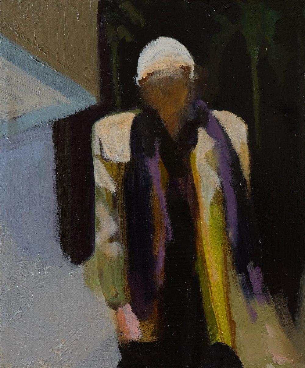 "Lara Feldman ""Man at the Door"" Oil on Canvas 30 x 425cm R4 800"