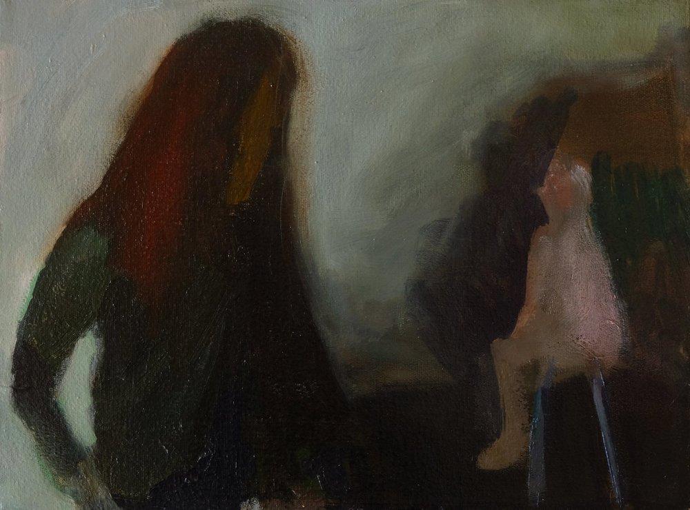 "Lara Feldman ""Conversation with Self"" Oil on Canvas 30 x 39,5cm R7 200"