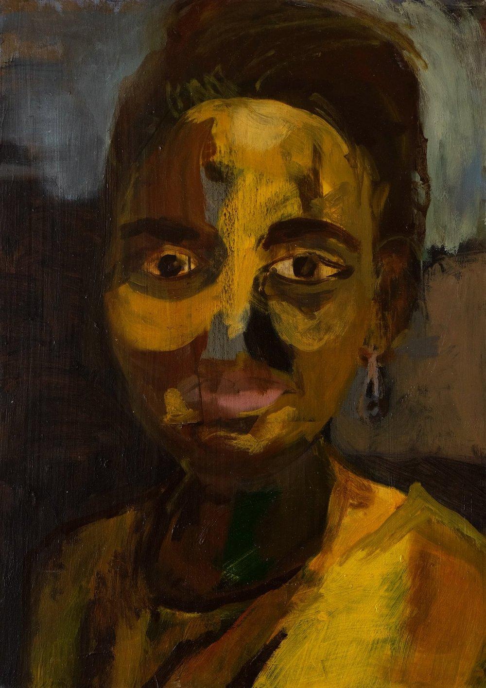 "Lara Feldman ""Marion"" Oil on Panel 42 x 30cm R7 800"