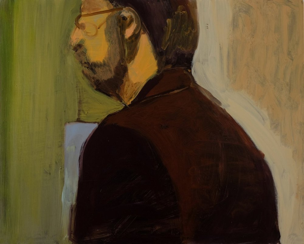 "Lara Feldman ""Man in a Suit"" Oil on Panel 40 x 50cm R8 400"
