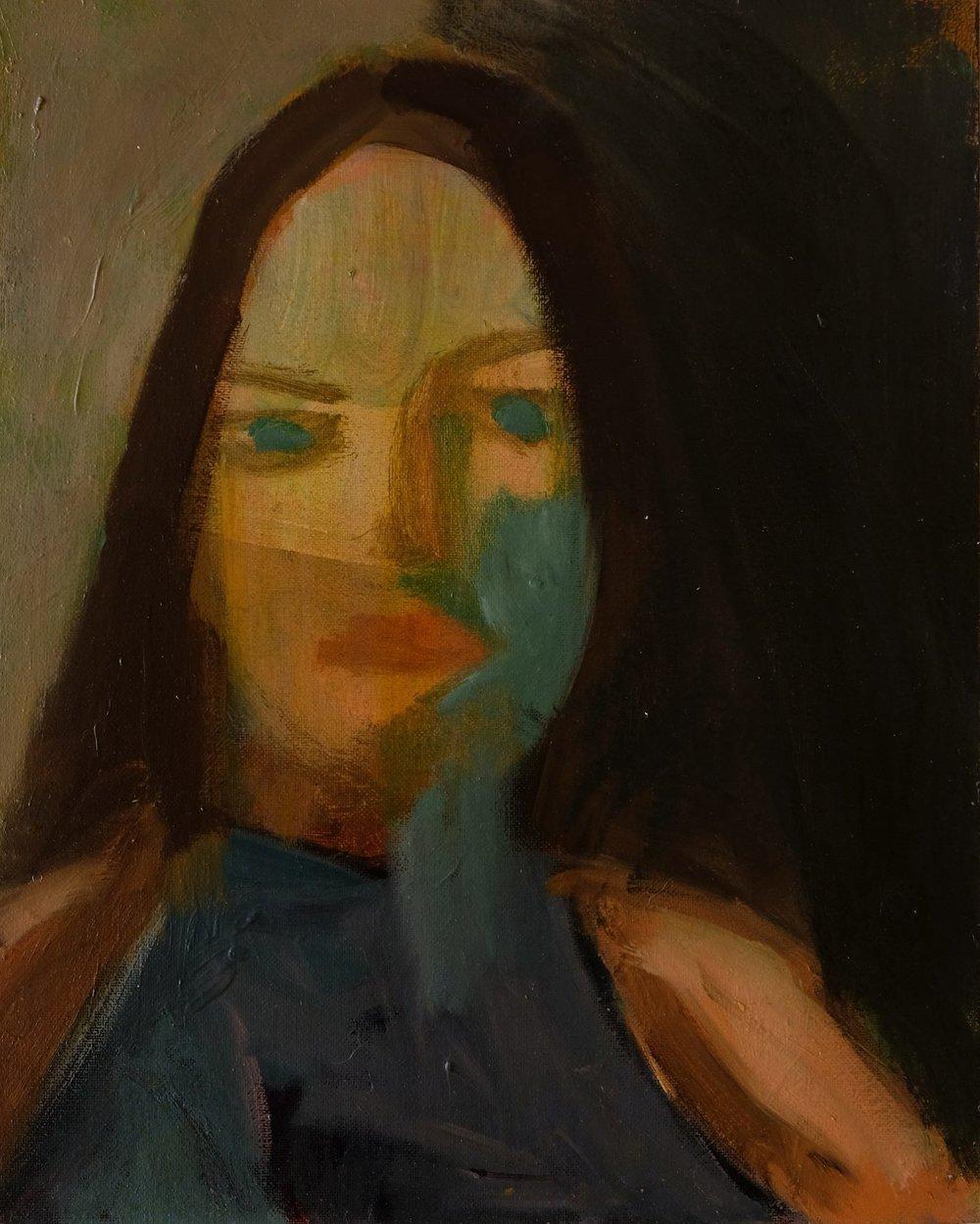 "Lara Feldman ""Tuesday"" Oil on Panel 30 x 24cm R4 800"