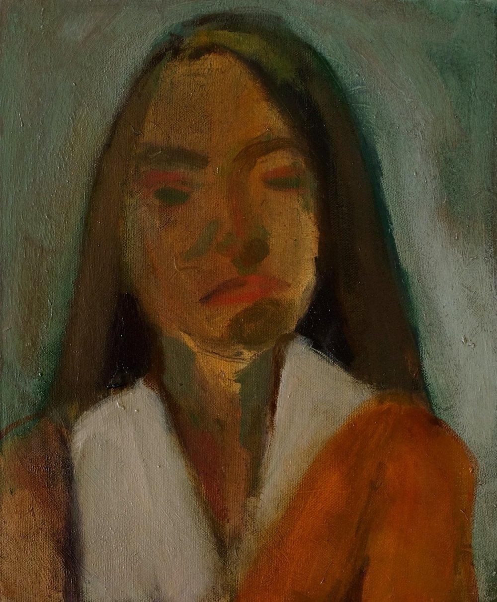 "Lara Feldman ""Just There"" Oil on Panel 35,5 x 25,5cm R4 800"