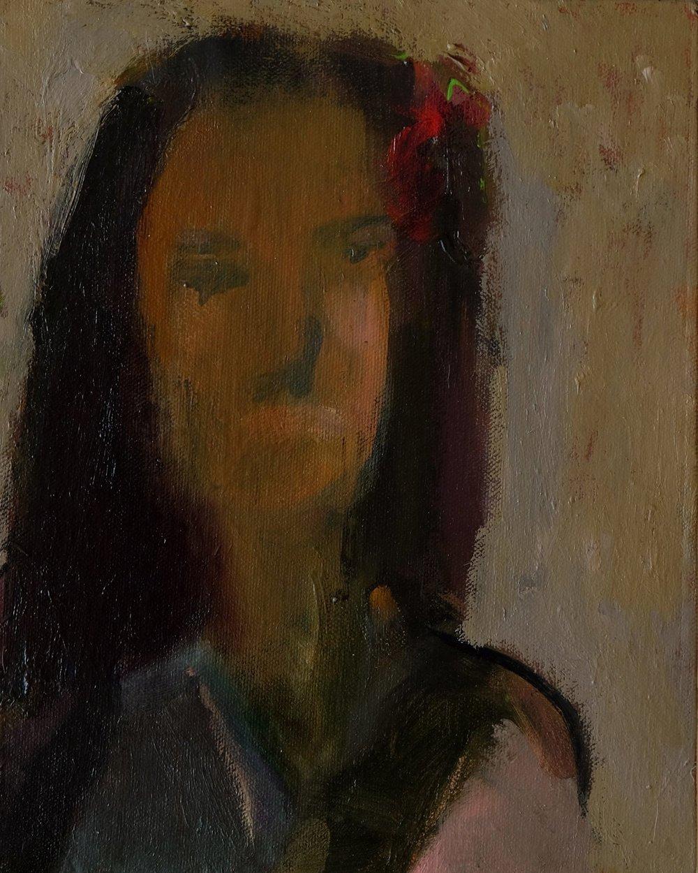 "Lara Feldman ""Hydrangea"" Oil on Panel 25,5 x 20,5cm R4 200"