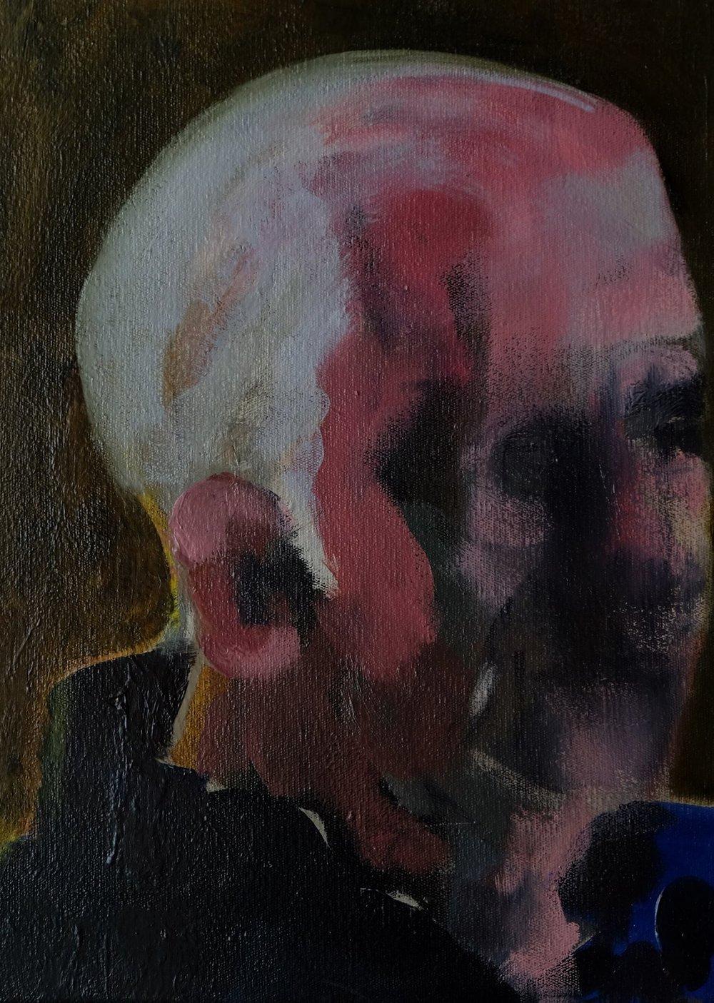 "Lara Feldman ""Looking Away"" Oil on Canvas 42,5 x 31,5cm including frame R6 400"